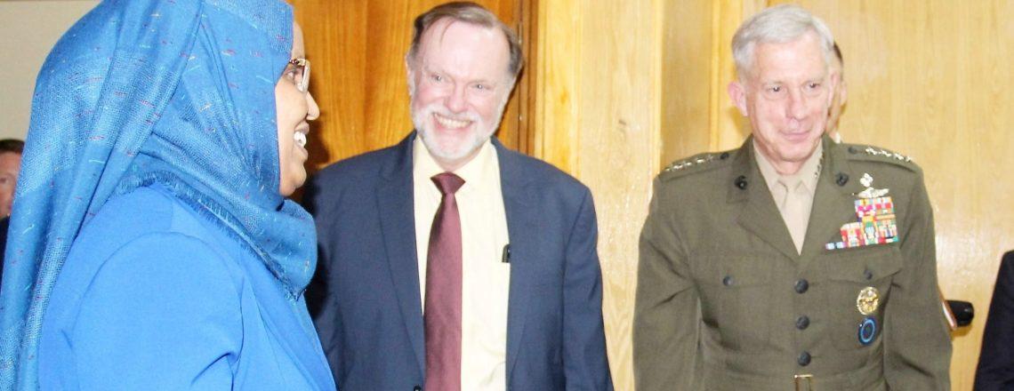 Assistant Secretary Tibor Nagy meets with Ethiopian Minister of Defense Aisha Mohammed