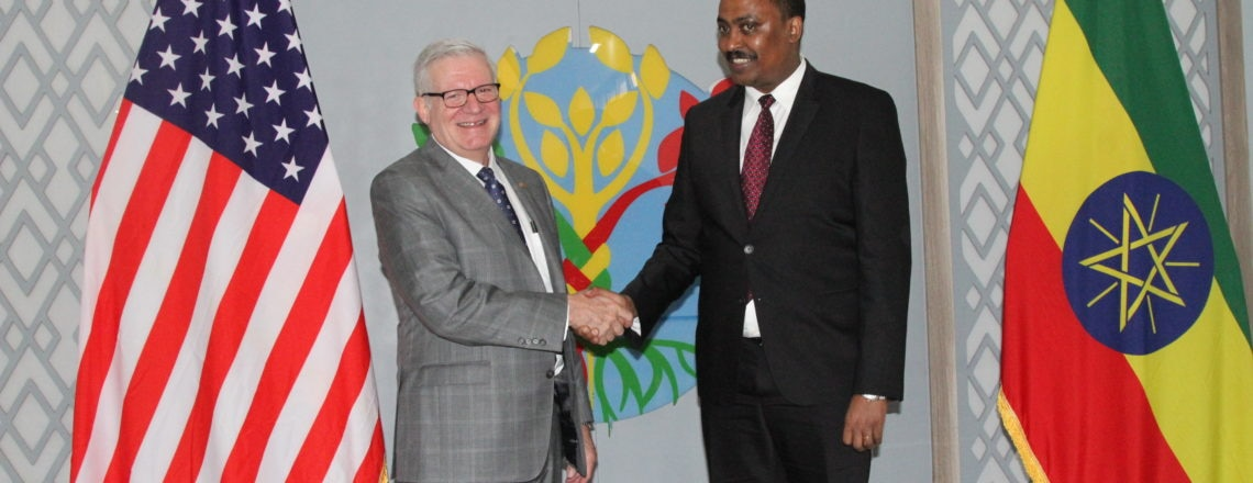 U/S of Commerce Gilbert Kaplan Meets Ethiopian Foreign Minister Dr. Workneh Gebeyehu