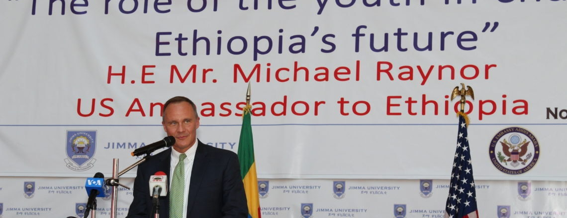 Ambassador Michael Raynor Delivers Speech at Jimma University